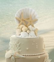 Coastal Themed Wedding Cake Topper